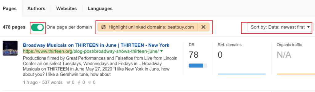ahrefs unlinked mentions feature