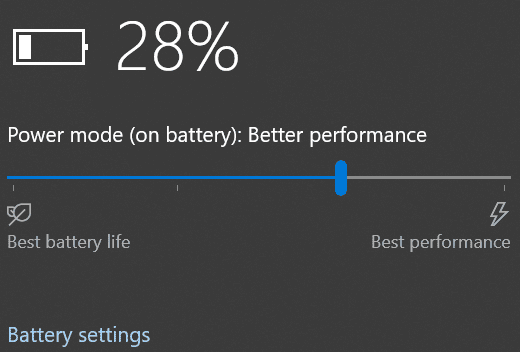 battery setting options. Part 3 to speed up your windows 10 operating system
