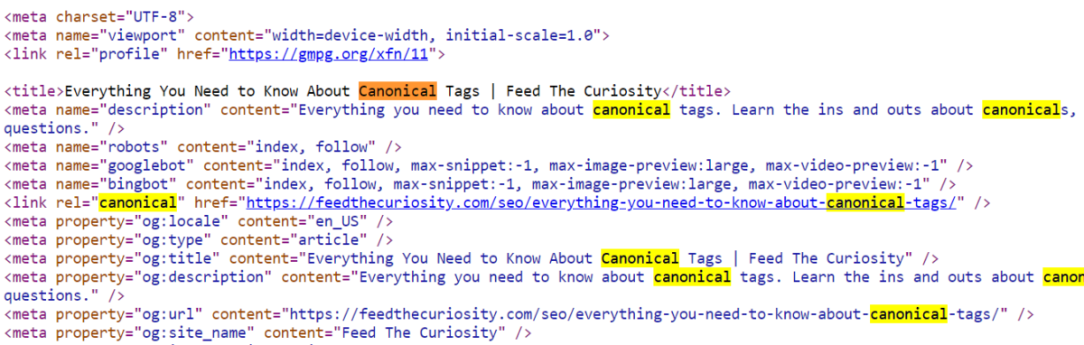 everything you need to know about canonical tags