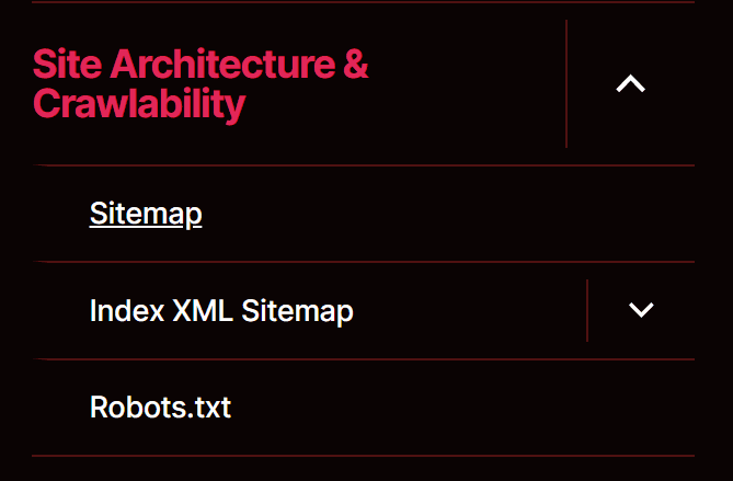 site architecture and crawlability