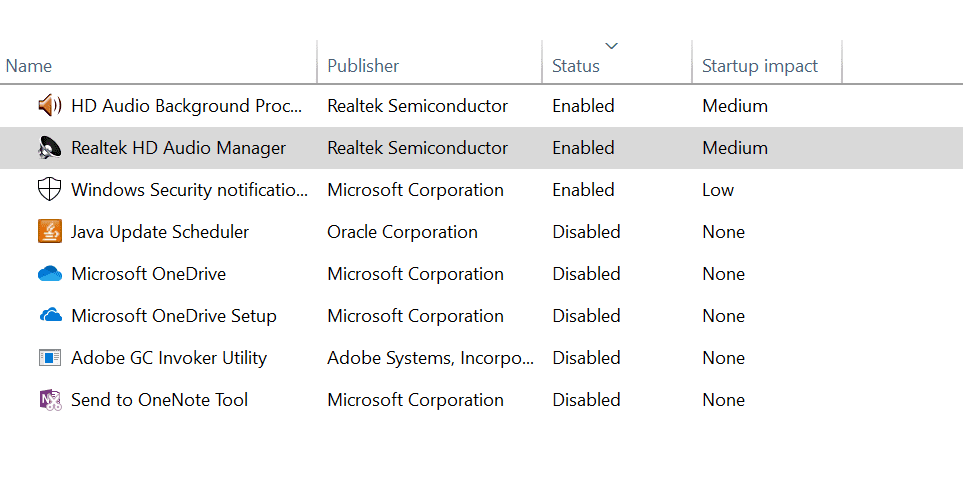 windows 10 startup programs. Part 1 to speed up your windows 10 operating system