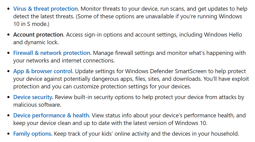 windows security features