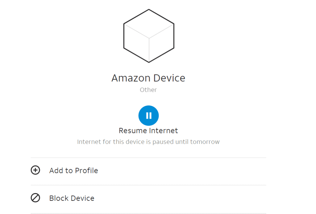 Pausing Wi-Fi Access Via AT&T Smart Home Manager
