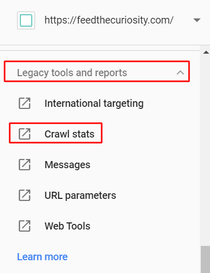 how to access crawl stats report in gsc