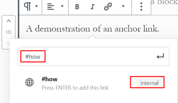 step 2- how to add an anchor link in wordpress using gutenberg.png