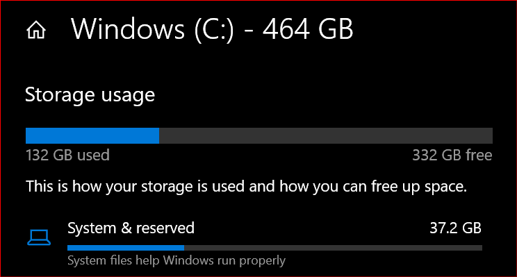 How Much Space Does Windows 10 Take on a SSD