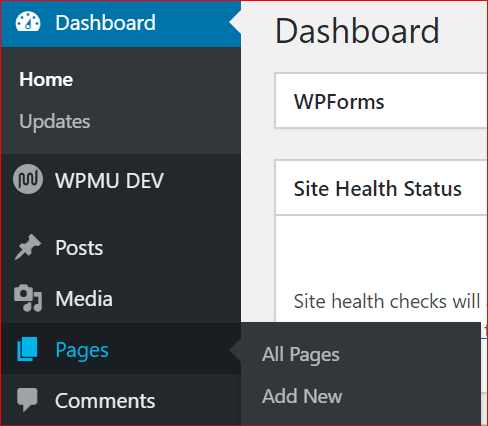 how to navigate to all pages in wordpress