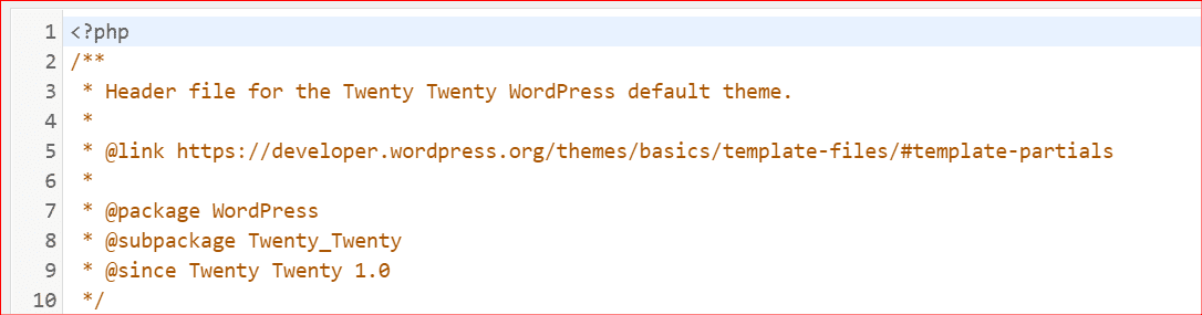 Where Is the Head Tag in WordPress