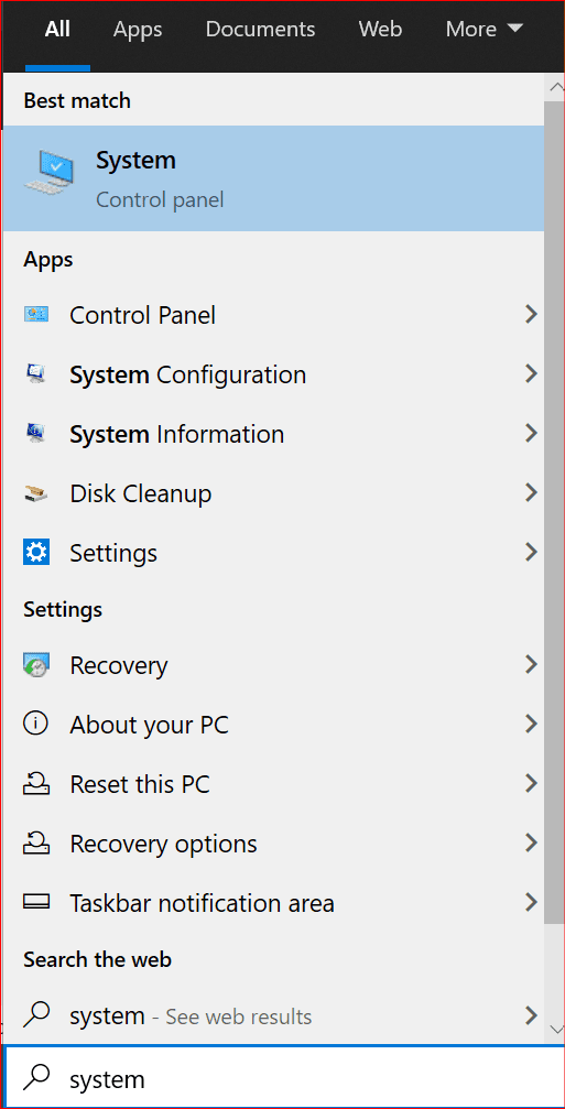 how to navigate to windows system control panel settings