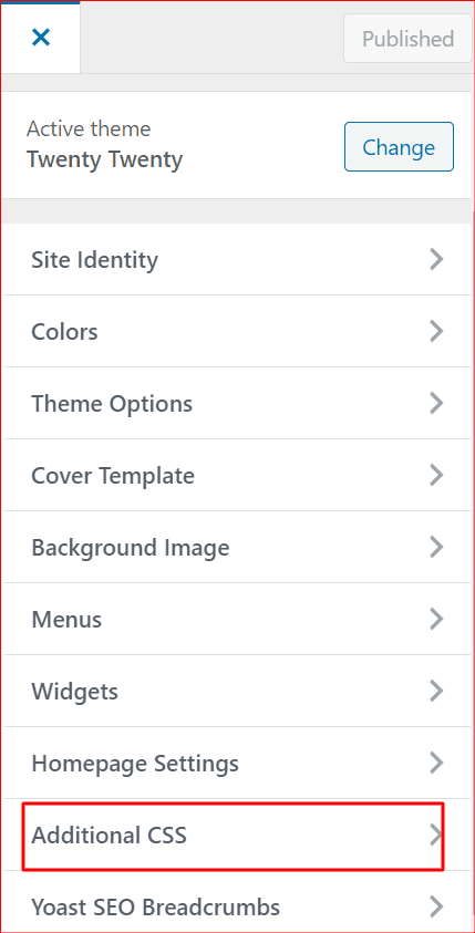 selecting additional css in wp