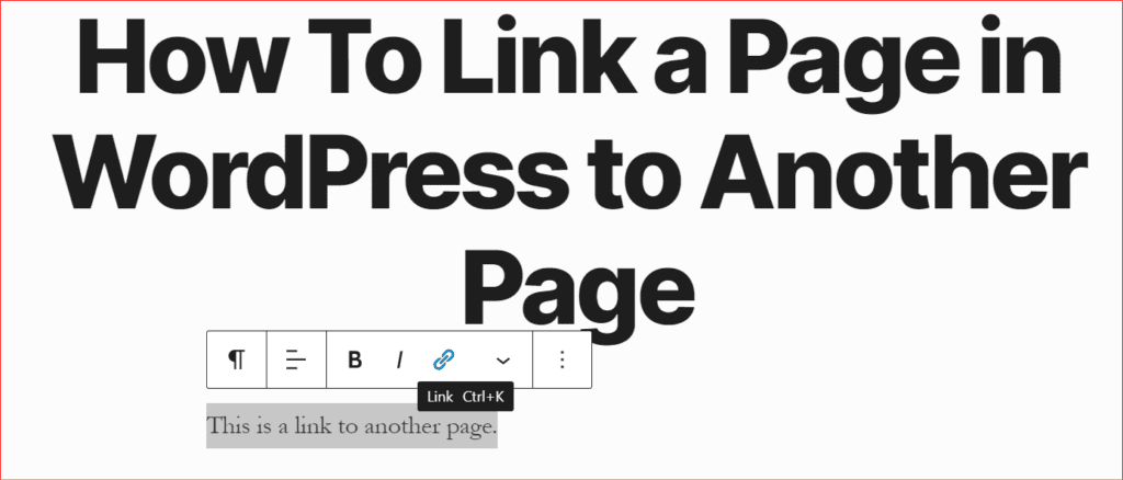 how to link a page in wordpress to another page part 1