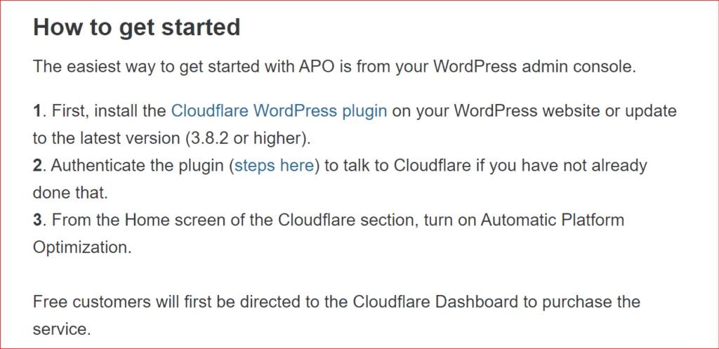 how to get started with Cloudflare APO